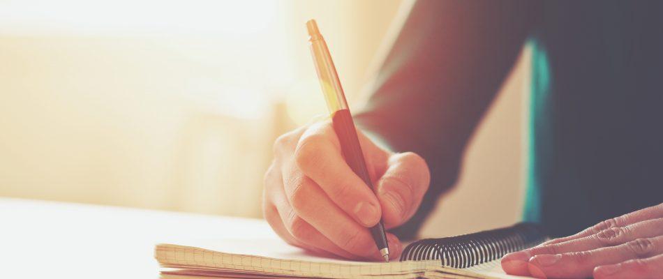 כתיבה במחברת